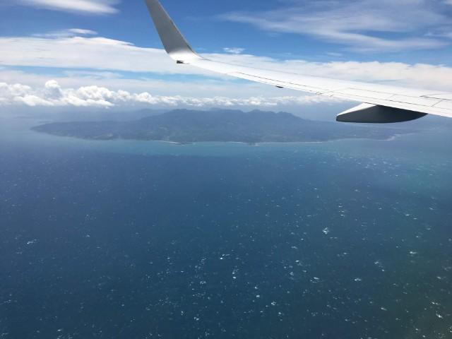 飛行機から見える島
